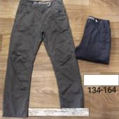 Модные котоновые брюки на трикотажной подкладе glo-story 134-164 р