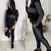 Модный Велюровый костюм + вставки сублимация кубики
