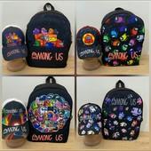 Модные стильные детские рюкзаки,бананки,кепки!Likee among us,browl stars и много др!смотрите все СП!
