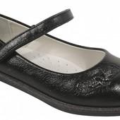 Черные классические туфли на девочку 32-37 школьные, стелька кожа