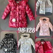 Пальто/куртка еврозима-зима для девочек Glo-story 92-128 см