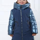 Пальто зимнее Кензо и мембрана для девочек от 104 до 128 р, качество,новинка, тёплое, тренд сезона